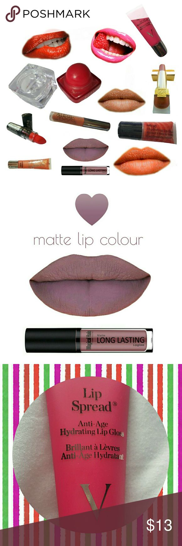 """8 lip products! Great deal! 1 matte NYX lipstick in """"indie"""