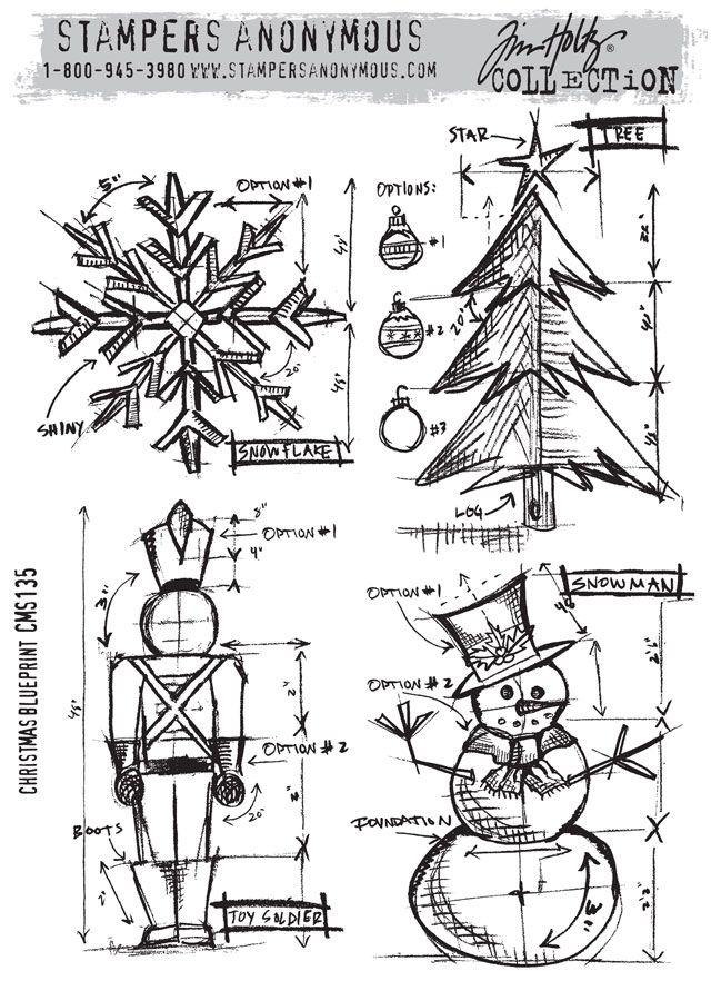 42 best Blueprint stamps - Tim Holtz images on Pinterest Digi - fresh blueprint paper name