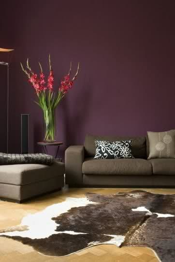 Color ideas for my new purple sofa