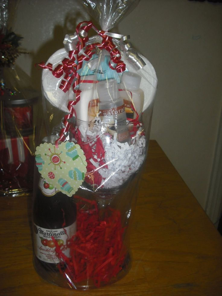 Mini gift glass with small bottle of sparkling cider..AVON ...