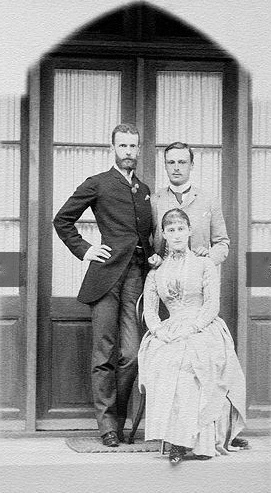 Ella and Sergei with her brother Grand Duke Louis of Hesse and by Rhine