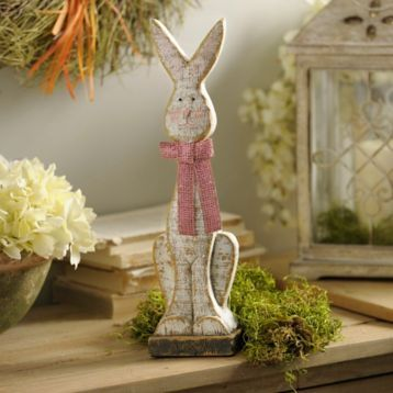 Distressed Easter Bunny Girl Statue