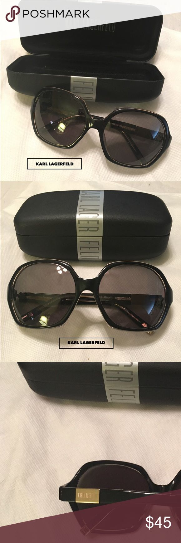 🕶Karl Lagerfeld NWNT sunglasses CASE INCLUDED 🕶 🕶Karl Lagerfeld NWNT sunglasses CASE INCLUDED 🕶 These sunglasses come with the case. VERY good condition. ☀️ Black and Gold Karl Lagerfeld Accessories Sunglasses