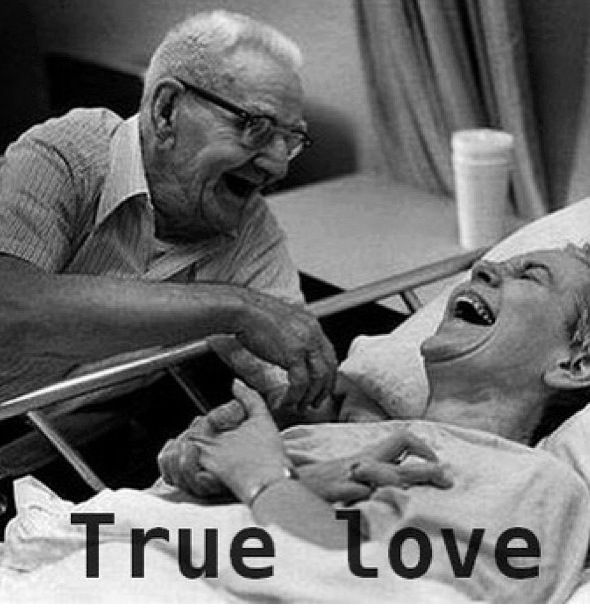 True love . May I be blessed enough to have this when I am of that age.