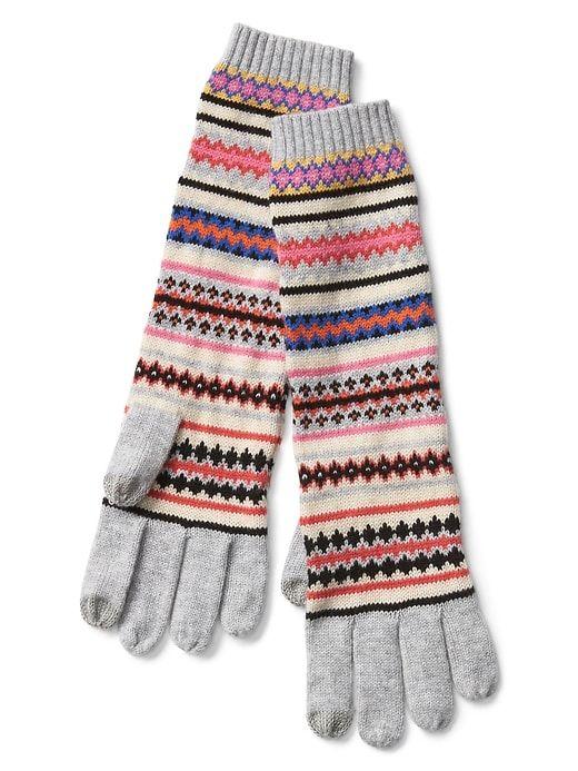 Merino blend fair isle smartphone gloves