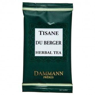 Tisane de la maison DAMMANN FRÈRES, à découvrir sur http://www.alunithe.com/sachets-de-the/marques/sachets-thes-dammann-freres/sachet-the-dammann-tisane-du-berger.html - #dammann #frères #tisane #vert #verveine #tilleul #menthe