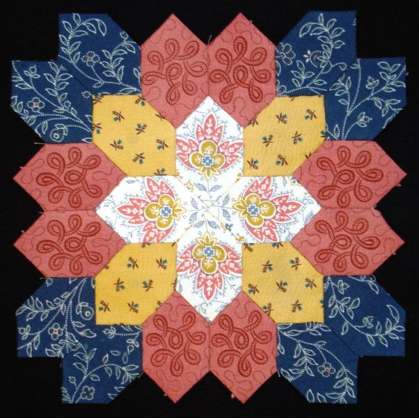 Lucy Boston Block 33 by Muriel for the POTC Blog Along at Little Quilts