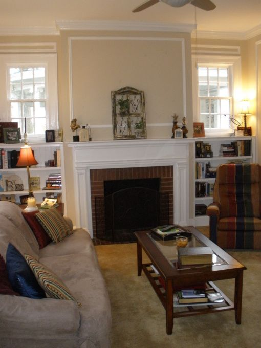 1920's fireplaces with bookcases | 1920's APT Living and Dining Rooms - Living Room Designs - Decorating ...