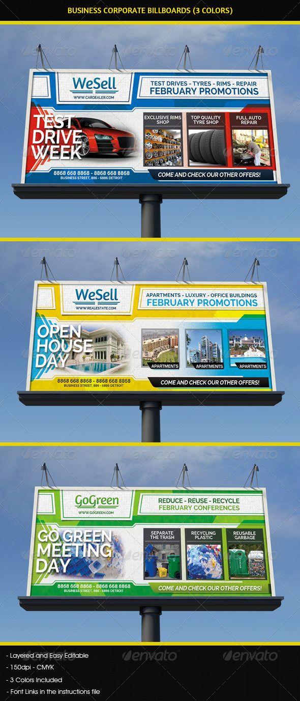 Real estate billboard design samples - Sales Services Business Billboard
