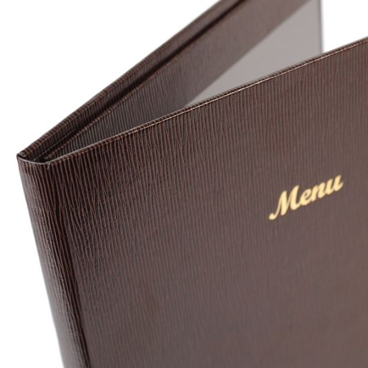 Glean Pellaq Menu Covers - The Smart Marketing Group - Hospitality. Indian Cuisine themed menu folders and displays by Smart Hospitality.