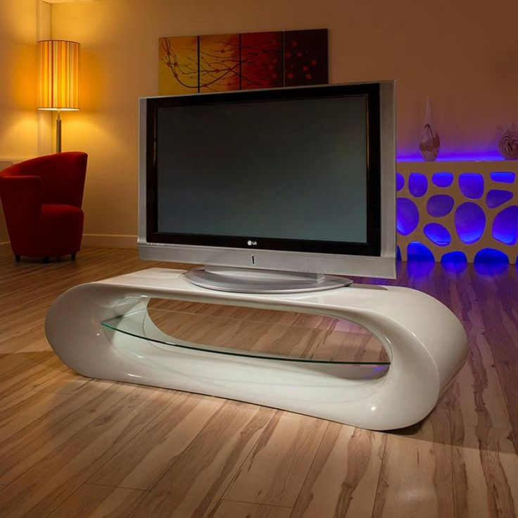 Ultra Modern Curved TV Stand Cabinet Unit Large 16 Metre Grey Gloss 1160 Tv CabinetLiving Room