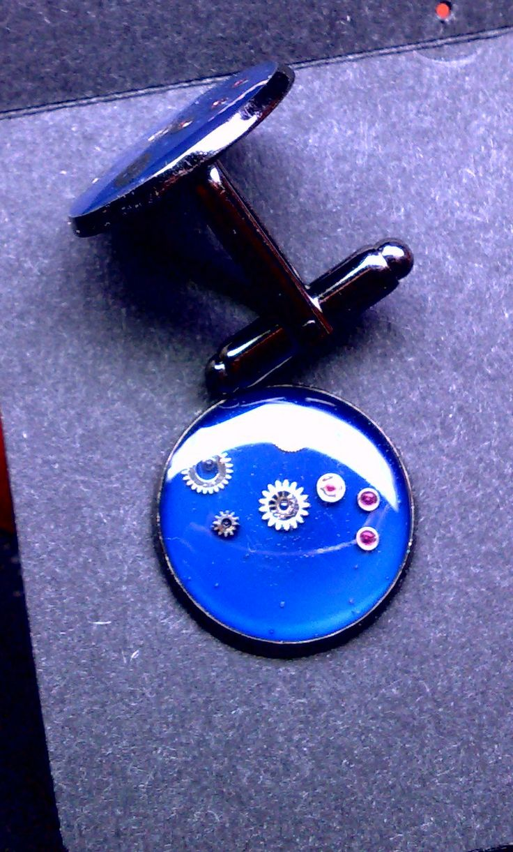 cufflinks steampunk resin