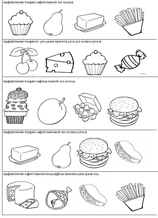 sağlık konusuyla ilgili çalışma sayfaları