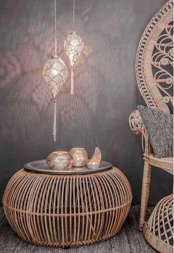 Lámparas árabes: Los mejores diseños de tendencia [FOTOS] - Lampara arabe en el rincon de lectura