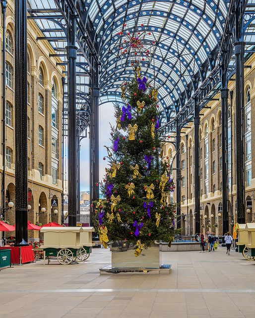 Hay's Christmas | Flickr - Photo Sharing! A Christmas Tree brings a festive cheer to Hay's Galleria in London.