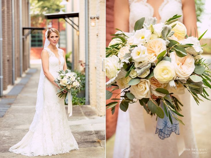 The Foundry at Puritan Mill Wedding :: Meagan + Brandon :: with Tyler » (Once Like a Spark) Photography | Wedding Bouquet
