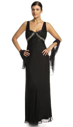 Rochie lunga de seara din voal negru, cu decoratii din strasuri la bust - Rochie lunga de seara din voal negru, foarte eleganta, cu decoratii din strasuri la bust. Este insotita de un sal din voal negru. Colectia Rochii de seara lungi de la  www.rochii-ieftine.net