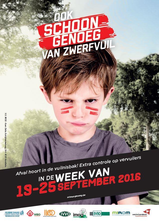 Ook schoon genoeg van zwerfvuil?  In de week van 19 tot en met 25 september zijn er over de ganse provincie West Vlaanderen extra acties tegen milieuoverlast en extra controles tegen overtreders.