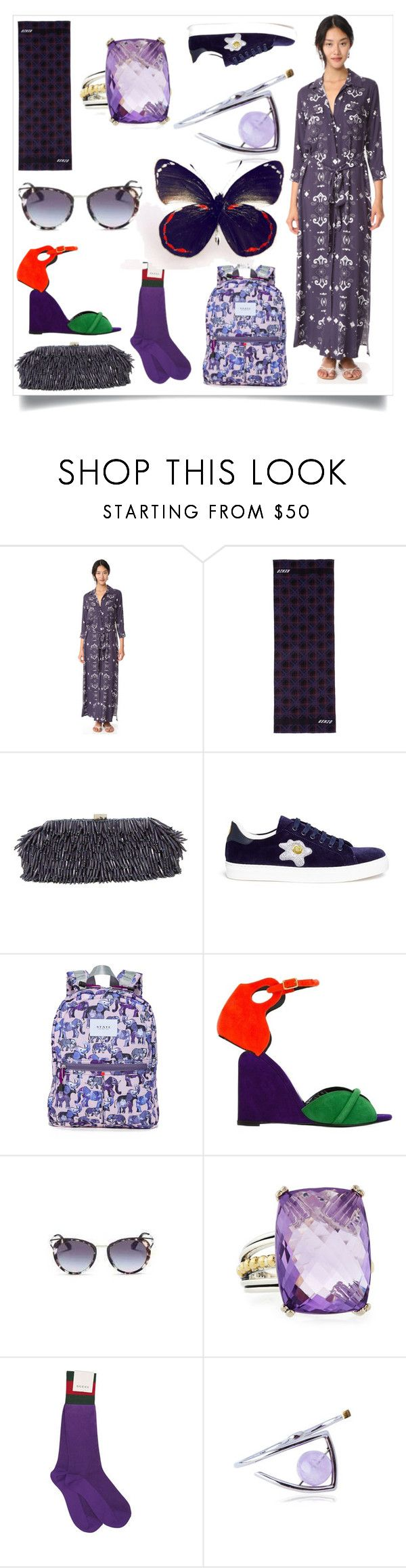 """""""Top fashion"""" by ramakumari ❤ liked on Polyvore featuring L'Agence, Kenzo, Santi, Anya Hindmarch, State, Pierre Hardy and Gucci"""
