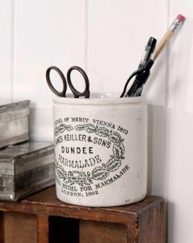 Vintage Keiller Stoneware Marmalade Pot