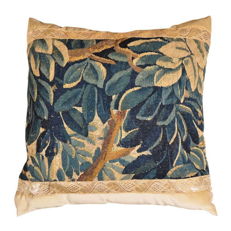 18th Century Tapestry Pillow | From a unique collection of antique and modern pillows and throws at https://www.1stdibs.com/furniture/more-furniture-collectibles/pillows-throws/