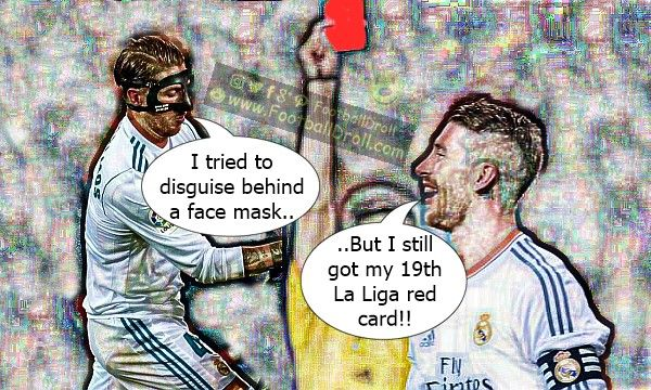 Sergio Ramos Makes History with 19 La Liga Red Cards #Ramos #RealMadrid #AthleticClub #AthleticBilbao #CR7 #Ronaldo #Messi #ElClasico #Barcelona #HalaMadrid #FCBLive #ForçaBarça #LaLiga #CL #Suarez #Neymar #Madrid #Barça #FCBarcelona #Jokes #Comic #Laughter #Laugh #Football #FootballDroll #Funny