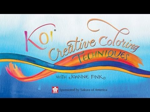 Koi Watercolor Creative Coloring Techniques with Joanne Fink of Zenspirations - YouTube