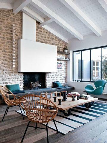 Deco parfaite dans une vieille grande villa totalement retapée qui donne un côté loft à la maison !!