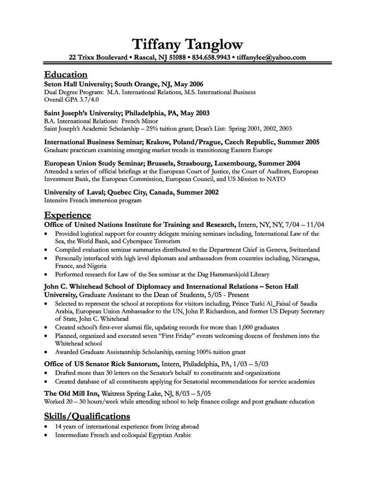 Example Resume Layout. An Example Of A Good Resume | Resume Format