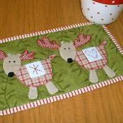 Reindeer Mug Rug - via @Craftsy  Would be cute to make 8 reindeer and a sleigh with Santa in it