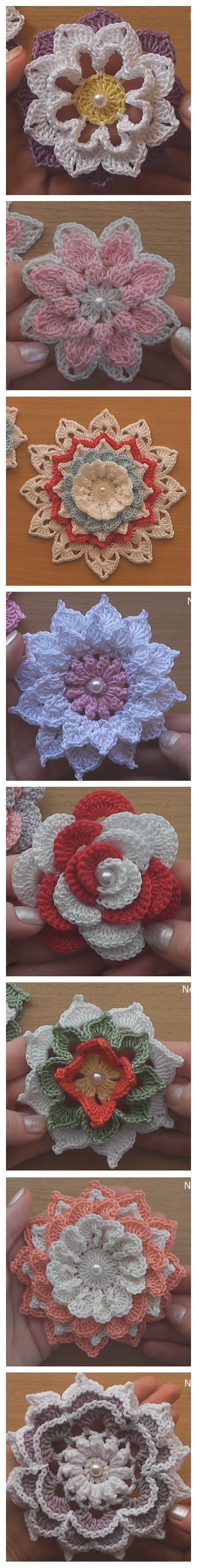 Crochet 8 Gorgeous Flowers