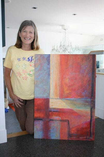 Lynley Welsh with painting