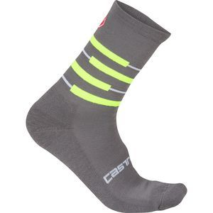 Castelli Incendio 15 Sock is the perfect sock for mountain biking -  the grey will hide dirt, but the neon keeps it's interesting.