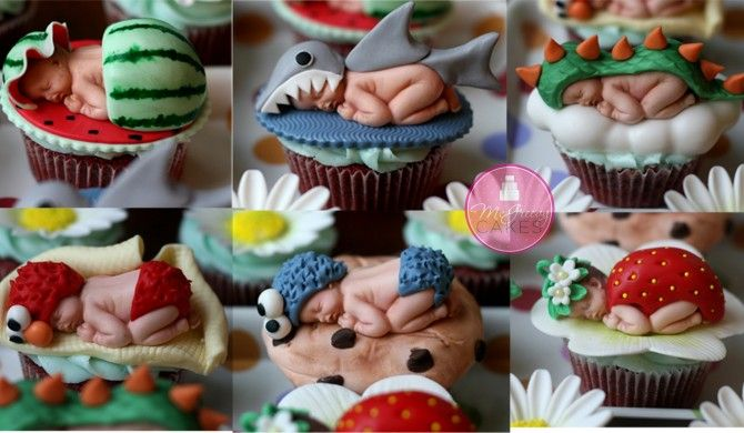 Fantastic sugar art baby tutorial!  Looks like Anne Geddes...so realistic and cute!