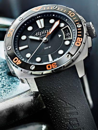 Alpina Extreme Diver 300 Orange Watch