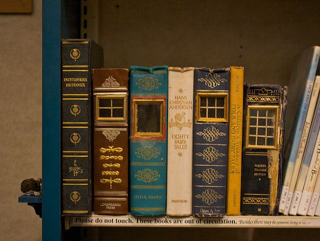 Old books, there may be someone who could live in them!