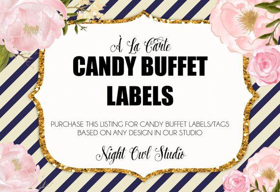 Candy Buffet Labels-Candy Buffet Tags-À La by NightOwlStudioDesign
