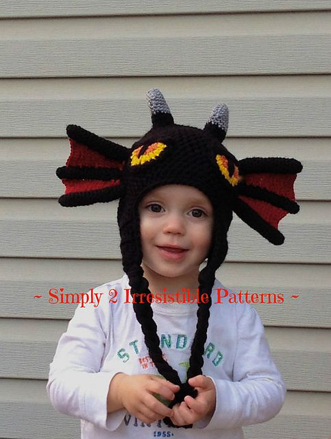 Simply ADORABLE Dragon Hat pattern by Ruth McColm