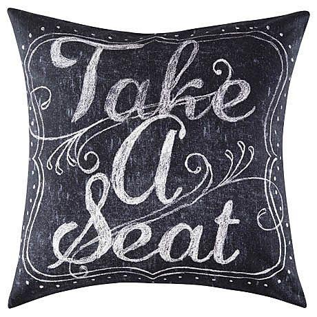 Take A Seat Cushion 50x50cm   Freedom Furniture and Homewares