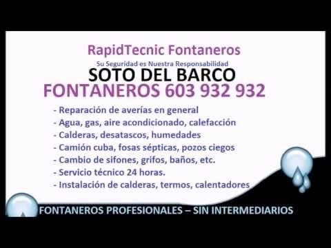Fontaneros Soto Del Barco 603 932 932 baratos