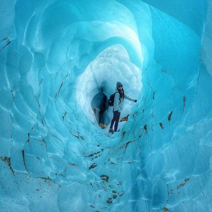 """Exploring the impossibly blue ice caves of the Glaciar Exploradores in Chilean Patagonia"""