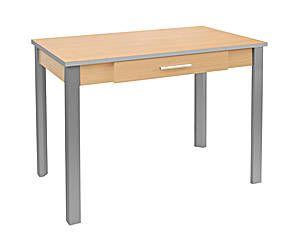 Mesa de cocina con cajón – haya gris