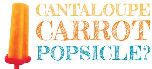 CANTALOUPE CARROT POPSICLE? | I am PRO hiding vegetables in food.