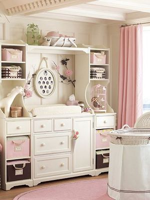 We have a mega-changing-table! With Zebra Stripes and Pink , of course,  in Sawyer Grace & Lyl's room, well, technically its in Lo's room too, Their rooms are adjoined, bedrooms going to the different sides and rocking chair/changing/feeding/play room in the middle of the two bedrooms :)