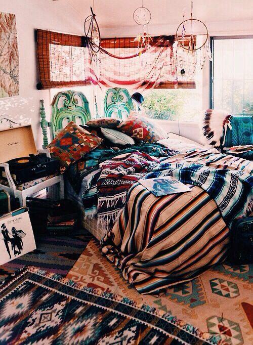 Boho hippie vibes room