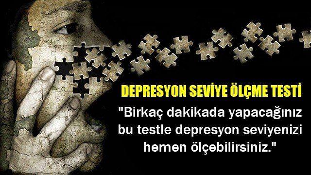 Depresyon seviye ölçme testi...