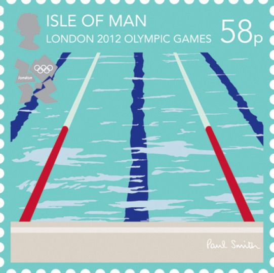 Swimming - London 2012 Olympics: Paul Smith Isle of Man stamps, in pictures