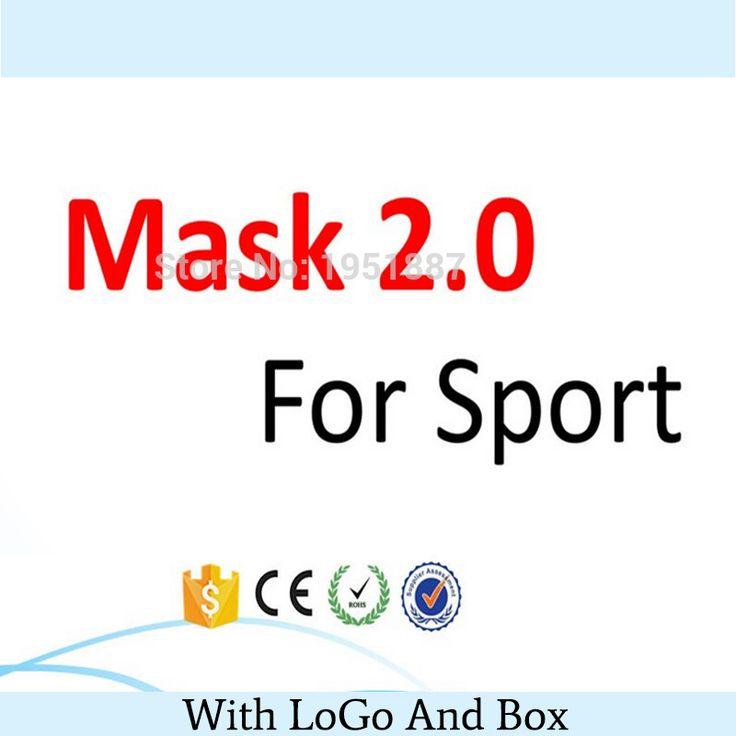 Schnelles Freies Verschiffen Neueste Training Sport Maske 2,0 Für Männer Fitness Oder Outdoor-Sport Mit Box Mit Logo