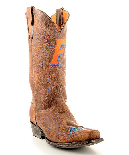 Gameday Boots Florida Gators Brass Tall Leather Cowboy Boot - Men | zulily