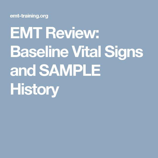EMT Review: Baseline Vital Signs and SAMPLE History